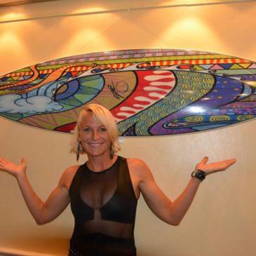 Чемпионка мира по сапсёрфингу Сонни Хёншайд